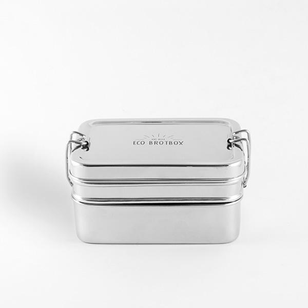 rvs lunchtrommel met vakjes ecobrotbox eco lunchbox. Black Bedroom Furniture Sets. Home Design Ideas